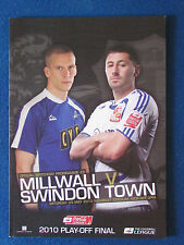 Millwall v Swindon Town - 29/5/10 - Div 1 Play Off Final Programme