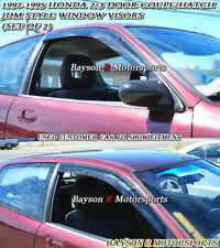 Side Window Rain Guard Visors (Tinted) Fits 92-95 Civic 2/3dr
