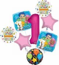 Bubble Guppies 1st Birthday Party Supplies Balloon Bouquet Decorations - Pink...