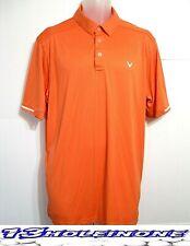 Callaway Men's Golf Shirt Short Sleeve Size Xlarge Orange Nice Polyester