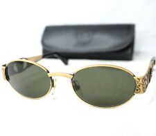 GIANNI VERSACE S50 sunglasses vintage gray gold oval medusa head leopard iconic