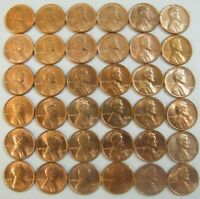 Lincoln Memorial Penny Cents 1959 - 1974 P D S Set 36 Uncirculated BU coins