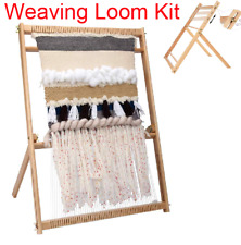 Weaving Loom Kit Large With Stand Multi-Craft Set Tapestry Loom Kit for Beginner