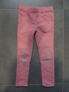 Pantalon type jeans  rose Taille 5-6 ans / 116 cm avec ceinture élastique
