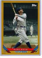 Babe Ruth 2019 Topps Archives 5x7 Gold #201 /10 Yankees