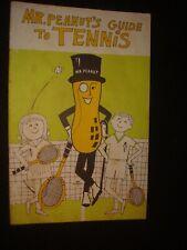Vintage Mr. Peanuts Guide To Tennis Book 1969