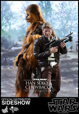 STAR WARS:EP. VII-CHEWBACCA & HAN SOLO DELUXE SET 1/6 Action Figure 12″ HOT TOYS