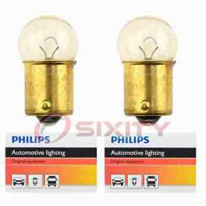 2 pc Philips License Plate Light Bulbs for Mazda 323 1986-1991 Electrical dy
