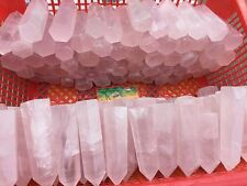 1/2LB  Pink Rose Quartz Crystal  Wand Point Generator Healing Energy Rich