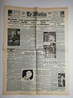 N768 La Une Du Journal Le Matin 5 février 1943 mobilisation totale en Allemagne