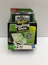 New Hasbro Dealing Shoe and Playing Cards, 3 Games, + Deck Of Cards