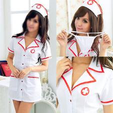 Sexy Women Nurse Doctor Uniform Costume Lingerie Halloween Cosplay Fancy Dress