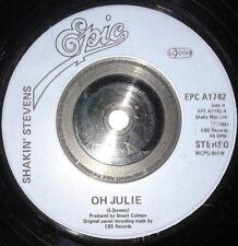 "Shakin Stevens - Oh Julie / I'm Knockin' 1980s 7"" Vinyl Record 45RPM"