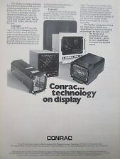 2/1977 PUB CONRAC F-5E F-5F MULTIPURPOSE MILITARISED VIDEO DISPLAY ORIGINAL AD