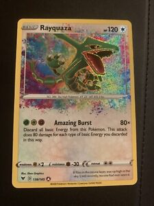 Rayquaza Amazing Rare 138/185 Vivid Voltage Holo Pokemon Card MINT