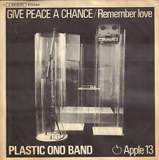 "PLASTIC ONO BAND (JOHN LENNON)  ‎– Give Peace A Chance (1969 GERMAN 7"")"