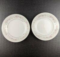 "GLA Fine Japan China MARIA Pink White Floral Border 5-5/8"" Dessert Bowl Lot of 2"