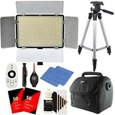 Professional 600 LED Video Light to 2200 Lumens Dimmable for Studio + Bundle