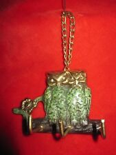 Metal Twin Owl's Key Ring  Wall Holder