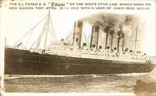 White Star SS Titanic. The Ill-Fated Titanic of the White Star Line.