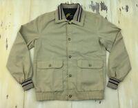 SEARS OUTERWEAR - Vtg 60s Khaki Button-up Normcore Dad Jacket, MEDIUM TALL