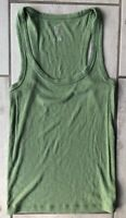 Aerie Womens Real Soft Tank Top Green Sleeveless Scoop Neck Stretch Ribbed M