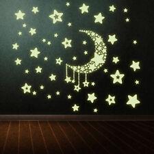 Mondsterne Fluoreszierend Wand Sticker Kinder Schlafzimmer Aufkleber Stylisch xk
