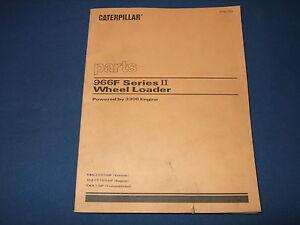 CAT CATERPILLAR 966F SERIES II WHEEL LOADER PARTS BOOK MANUAL S/N 8BG2000-UP