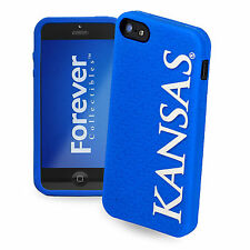 Kansas Jayhawks All Silicone IPHONE 5 soft cell phone cover/case -NCAA Licensed