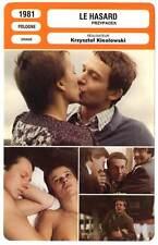FICHE CINEMA : LE HASARD - Krzysztof Kieslowski 1981 Blind Chance