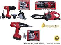 Toy Construction Kids Pretend Play Tool Box Set Drill Chainsaw Boys Workshop