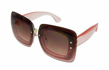 2750788d3a Gafas De Sol Marrón Rosa Transparente de Ella Jonte Plaza UV 400 nueva  estilo