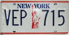 New York   License Plate, original Nummernschild USA  VEP 715  ORIGINALBILD