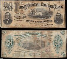Mt. Union, OH - Mount Union College/First National College, College Currency $20