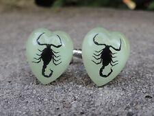 Glow in the Dark Scorpion Cufflinks--Bug Wildlife Nature Animal Iridescent