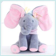Peek-a-Boo Animated Talking and Singing Plush Elephant Stuffed Doll Baby ToyGift