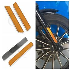 Orange Front Fork Leg Reflectors For Harley Dyna Fatboy Softail lower leg slider