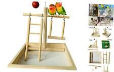 kathson Small Birds Playpen, Bird Perch Playstand Parrot Playground Gym, Wood La