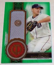2017 Jordan Zimmermann Topps Tribute Stamp of Approval Relic Card 63/99