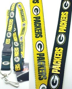 Green Bay Packers NFL Keychain Lanyard- Two tone Color