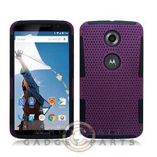 Nexus 6 Hybrid Mesh Case Purple Protector Guard Shield
