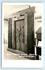 Deerfield, MA - OLD NATIVE INDIAN DOOR MUSEUM ART PIECE - RARE c1950s RPPC - E1