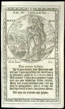 santino incisione 1600 S.GIOVANNA DI CUSA