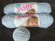 Vtg Jamie Lion Brand Baby Yarn PASTEL BLUE 206 Lot 2.5 Skeins