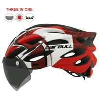 Best HQ Adult MTB Mountain Road Bike Bicycle Cycling Helmet & Removable Goggles