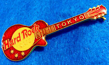 ENAMEL TOKYO HORIZONTAL RED GIBSON LES PAUL GUITAR GRID Hard Rock Cafe PIN