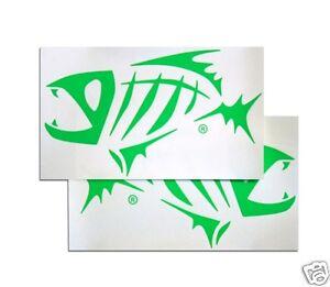G. LOOMIS SKELETON FISH BOAT STICKER SET - GREEN