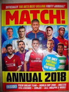 Match 2018 Annual The Official Annual UK's Best-Selling Footy Annual Brand New