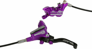 Hope Tech 3 V4 Disc Brake and Lever - Front, Hydraulic, Post Mount, Purple