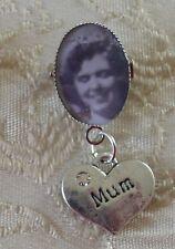 CORNICE foto mamma Matrimonio Chiusura con Bottone Charm Foro/Pin/Spilla